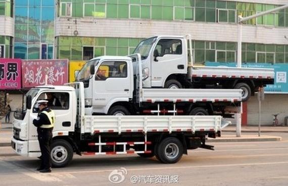 pomysłowość chińskich kierowców ciężarówek